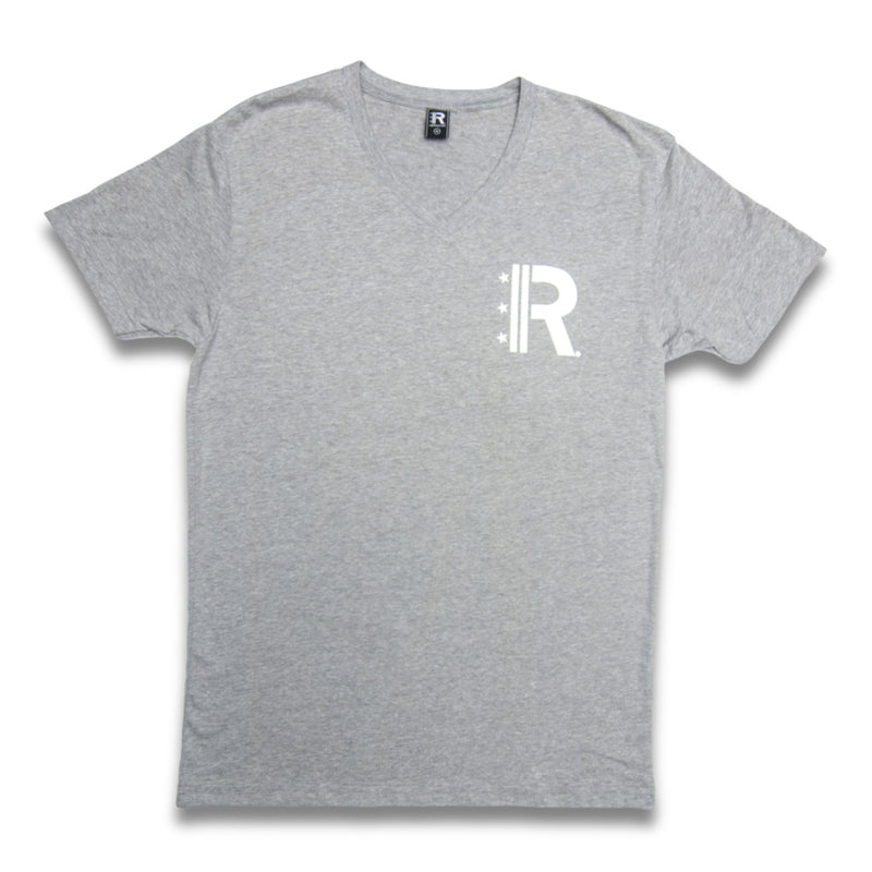 Rapteez® OG Logo V-Neck T-Shirt | Grey