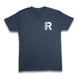 Rapteez® OG Logo V-Neck T-Shirt | Navy