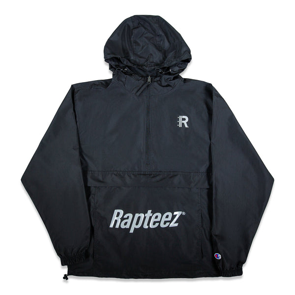 Front of Rapteez Logo Anorak Jacket in Black