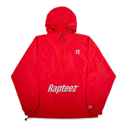 Front of Rapteez Logo Anorak Jacket in Red