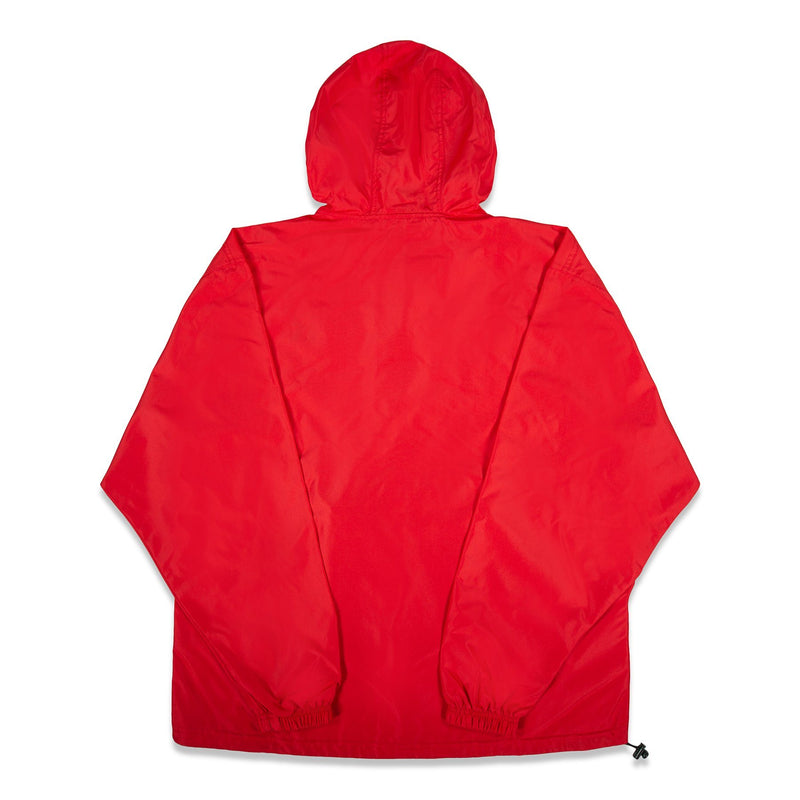 Back of Rapteez Logo Anorak Jacket in Red