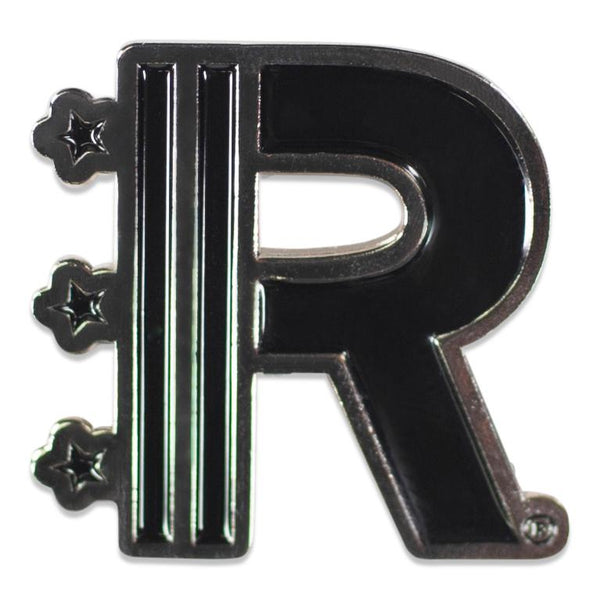 Front of Rapteez® Logo Lapel Pin in Silver