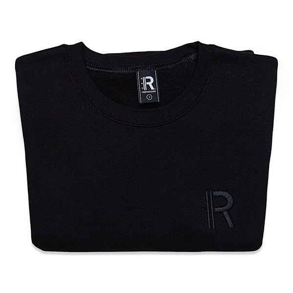 Folded Rapteez® OG Logo Crewneck in Black