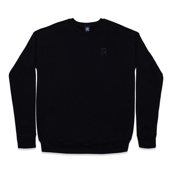 Front of Rapteez® OG Logo Crewneck in Black