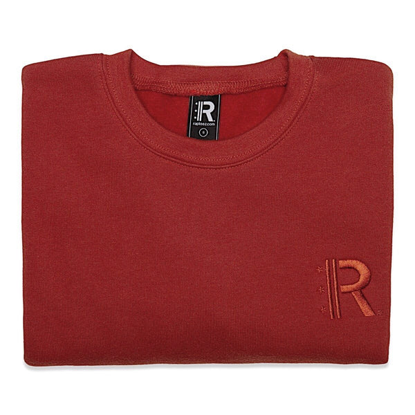 Folded Rapteez® OG Logo Crewneck in Brick