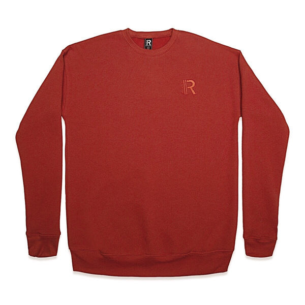 Front of Rapteez® OG Logo Crewneck in Brick