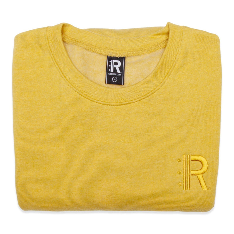 Folded Rapteez® OG Logo Crewneck in Mustard