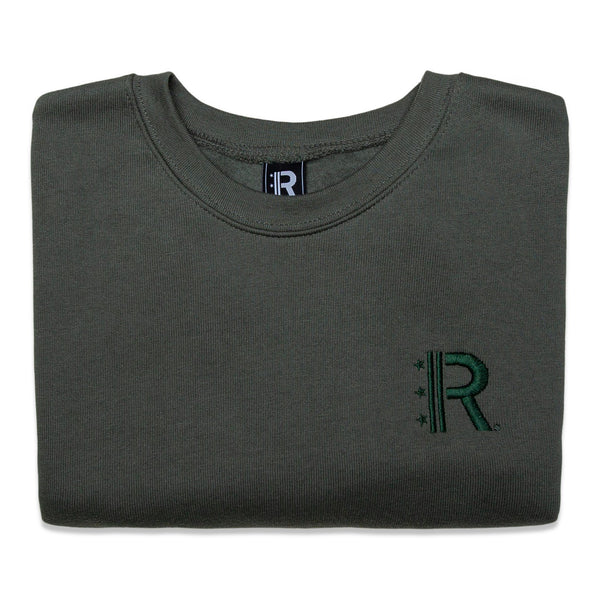 Folded Rapteez® OG Logo Crewneck in Olive