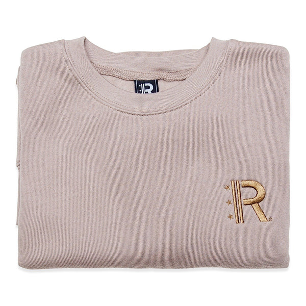 Folded Rapteez® OG Logo Crewneck in Wheat