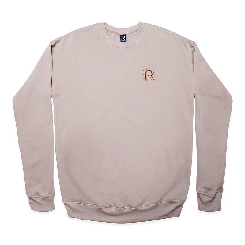 Front of Rapteez® OG Logo Crewneck in Wheat