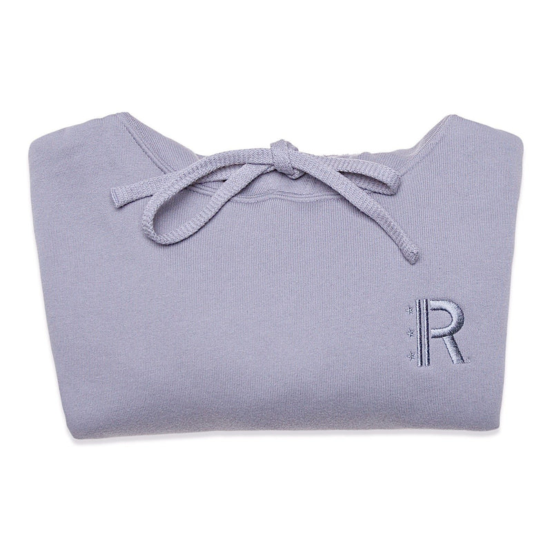 Folded of Rapteez® OG Logo Cropped Hoodie in Smoke