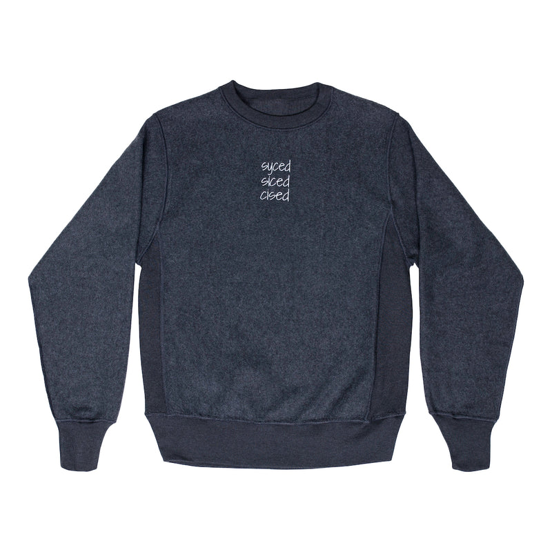 Syced Siced Cised Champion® Reverse Crewneck | Charcoal