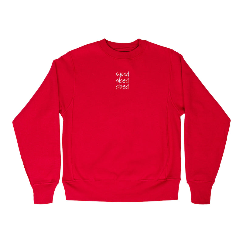 Syced Siced Cised Champion® Reverse Crewneck | Red