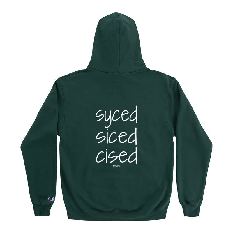 Syced Siced Cised Champion® Hoodie | Forest Green