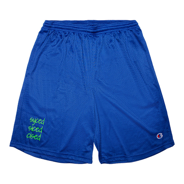 Syced Siced Cised Champion® Mesh Shorts | Royal