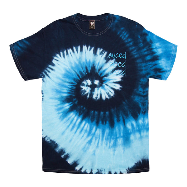 Syced Siced Cised Tie-Dye Tee | Blueberry