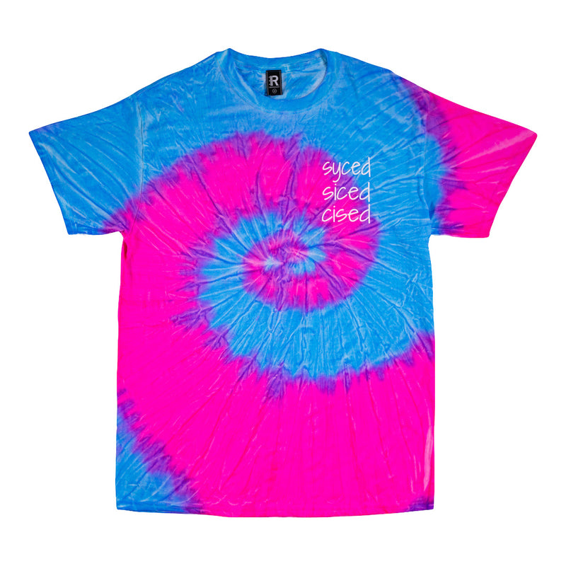 Syced Siced Cised Tie-Dye Tee | Cotton Candy