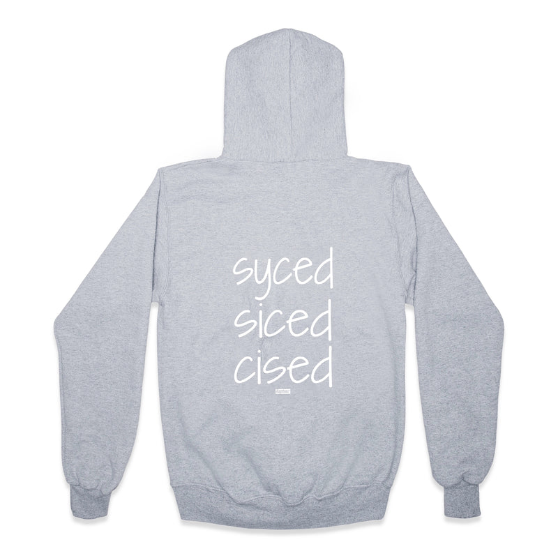 Syced Siced Cised Champion® Hoodie | Grey