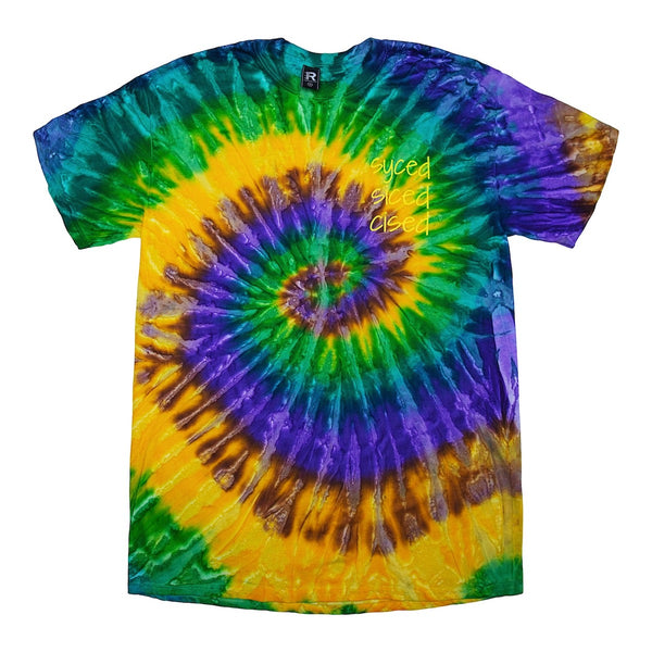 Syced Siced Cised Tie-Dye Tee | Lemon Lime