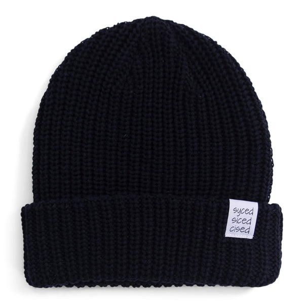 Syced Siced Cised Knit Beanie | Black