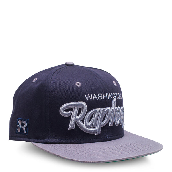 A navy 6-panel hat featuring the Rapteez® Logo embroidered on right