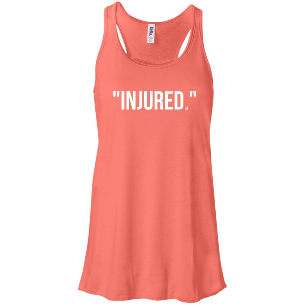 """Injured."" Flowy Racerback Tank"