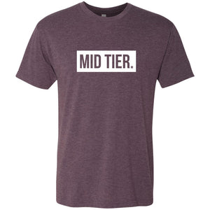 Mid Tier. Men's Fitted Triblend T-Shirt