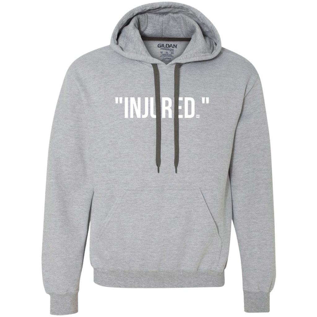 """Injured."" Fleece Hoodie"