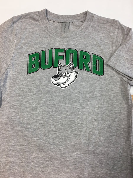 CLEARANCE Wolfie Face Green - Buford Youth T-shirt