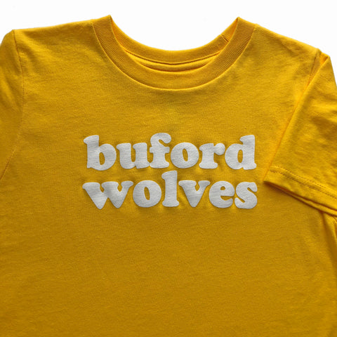 CLEARANCE Yellow Buford Wolves T-shirt - Buford Youth T-shirt