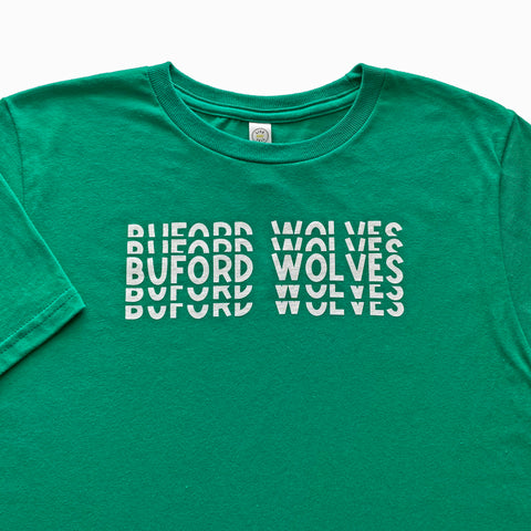 Buford Wolves Short Sleeve Ripple T-shirt Youth