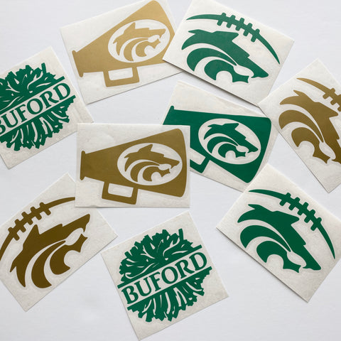 Buford Football OR Cheer Vinyl Sticker Decal