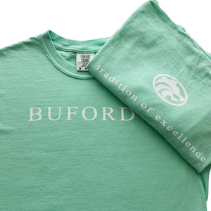 CLEARANCE Buford Traditions - Buford T-shirt Adult Short Sleeve Mint Green