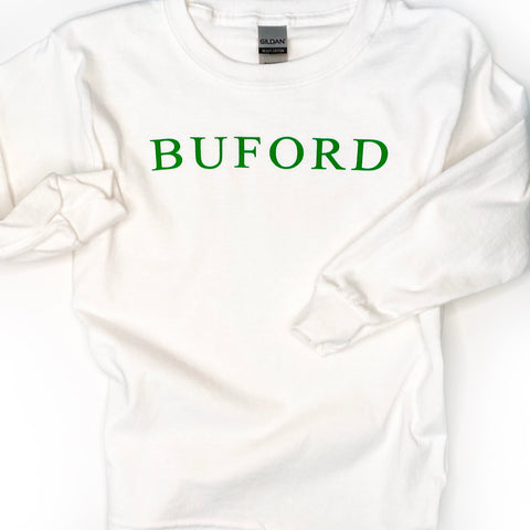 SALE Buford Long Sleeve Traditions White T-shirt - Youth