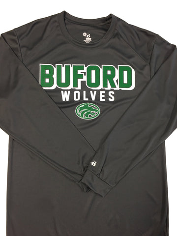 Buford Wicking Long Sleeve Tee Badger Brand Adult