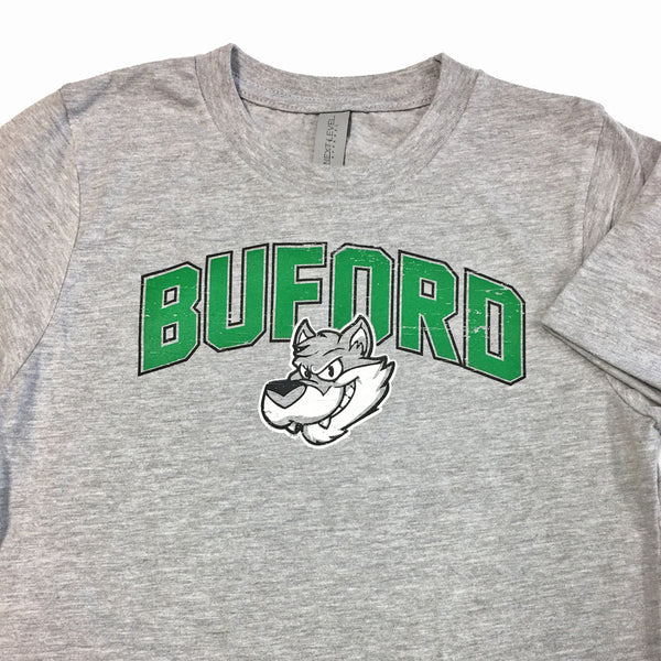 Wolfie Face Green - Buford Youth T-shirt