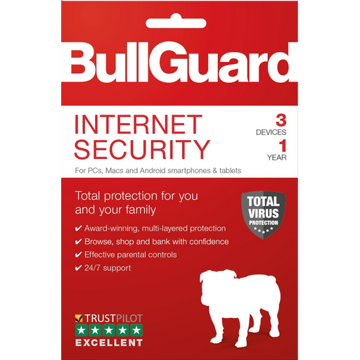 Bullguard Internet Security 2020 1Year/3 Device Multi Device