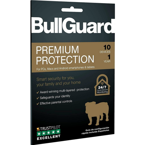 Bullguard Premium Protection 2020 1 Year/10 Device Single Multi Device
