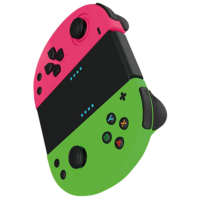 Gioteck Joy Con Controllers JC-20 - Neon Pink/Neon Green