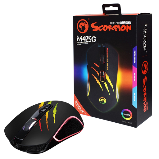 Marvo Scorpion M425G USB RGB LED Black Programmable Gaming Mouse
