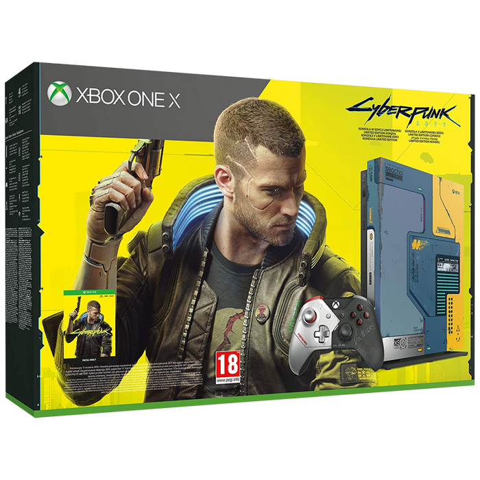 Xbox One X 1TB Console - Cyberpunk  2077 Limited Edition Bundle