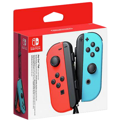 Nintendo Switch Joy-Con Pair: Neon Red/Neon Blue