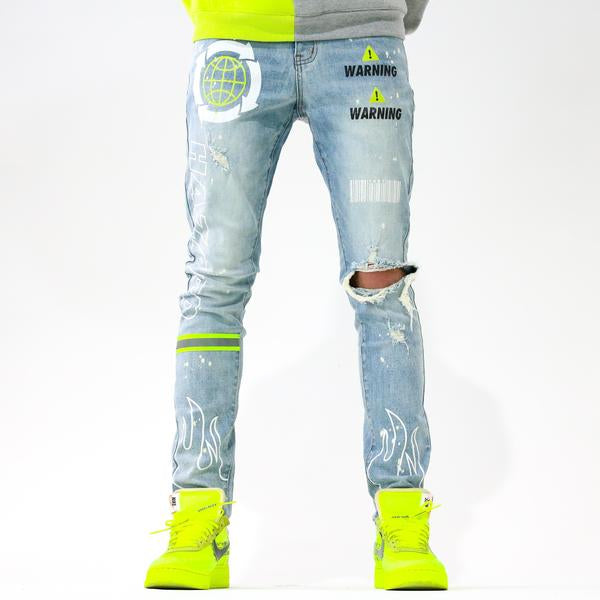 HAZARD YELLOW DENIM