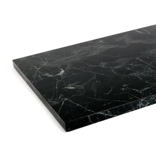 Black, Silk Matt - Marble Shelf
