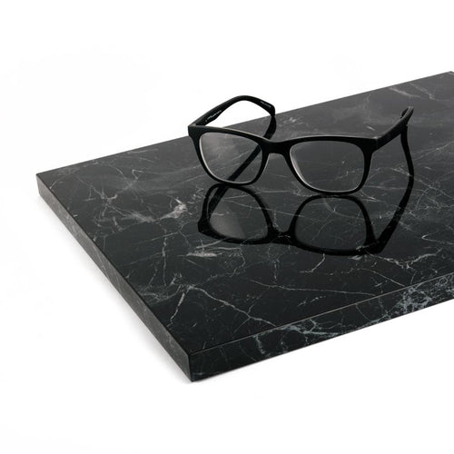 Black, High Gloss - Marble Shelf