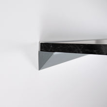 Black Marble Floating Shelf in High Gloss, Modern, Wall Mounted, Easy to Install