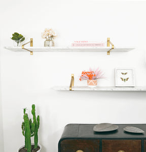 White, High Gloss - Marble Shelf