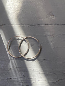 Traditional Silver Hoops