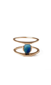 Zaun Ring with Azurite