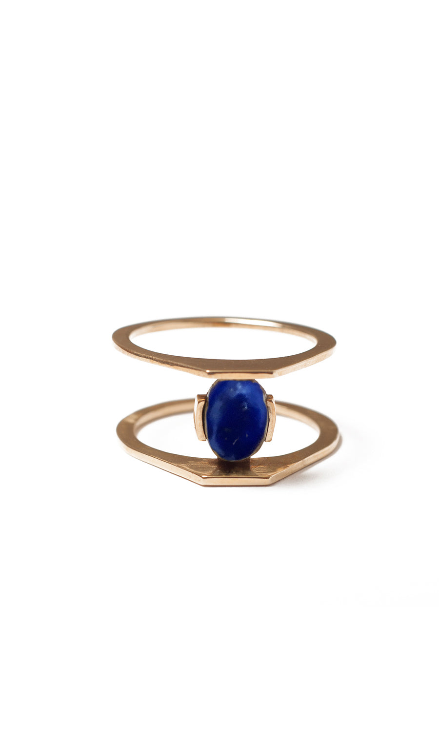 Zaun ring with Lapis